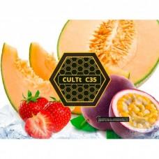 Табак для кальяна CULTt C35 - Passion fruit, cantaloupe, strawberry, ice (Маракуйя, дыня, клубника, лед)