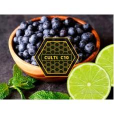 Табак для кальяна Cult C10 Lime Blueberry Ice (Лайм, Черника, лёд)