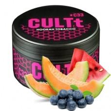 Табак для кальяна CULTt C33 Watermelon, Melon, Blueberry, Ice (Арбуз, дыня, черника, айс)