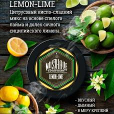 Табак для кальяна Must Have Lemon Lime (Лимон лайм) 125gr