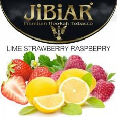 Табак для кальяна Jibiar Lime Strawberry Raspberry (Лайм Клубника Малина)