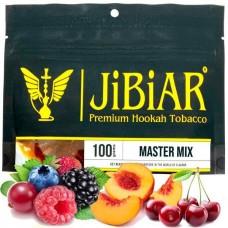 Табак для кальяна Jibiar Master mix (Апельсин вишня малина манго персик черника)