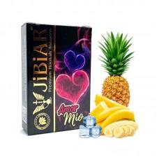 Табак для кальяна Jibiar 50 gr Amour Mio (Банан, ананас, лёд)