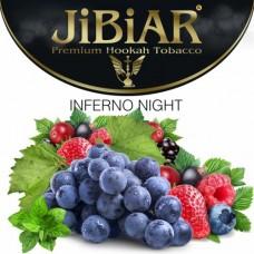 Табак для кальяна Jibiar Inferno night (Виноград ежевика земляника лед малина черника)
