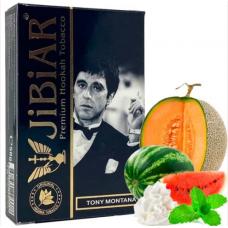 Табак для кальяна Jibiar 50 gr Tony Montana (Дыня арбуз мята сливки)