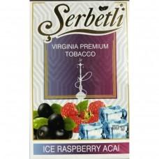 Табак для кальяна SERBETLI ICE RASPBERRY ACAI (МАЛИНА АСАИ АЙС)