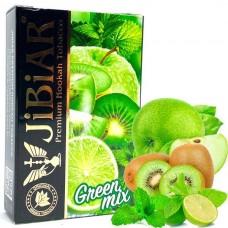 Табак для кальяна Jibiar 50 gr Green Mix (Зеленое яблоко Киви Лайм Мята)