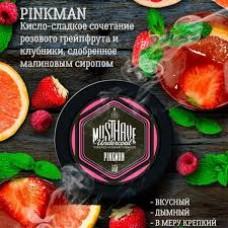 Табак для кальяна Must Have PinkMan (Клубника грейпфрут малина) 125gr