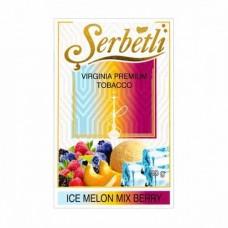 Табак для кальяна SERBETLI ICE MELON MIX BERRY (Дыня с ягодами айс)