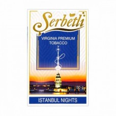 Табак для кальяна SERBETLI ISTANBUL NIGHTS (ЧЕРНИКА ЕЖЕВИКА КЛУБНИКА)