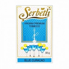 Табак для кальяна SERBETLI Blue Curacao (Алкогольный ликер с лаймом и цитрусами)