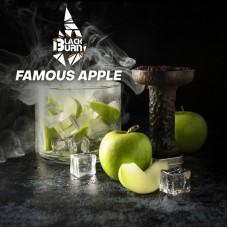 Табак Black Burn Famous Apple (Зелёное яблоко, лёд) 100gr