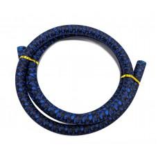 Синий силиконовый шланг без мундштука  (черепа)